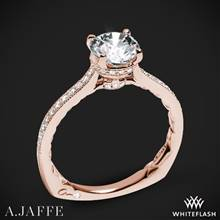 18k Rose Gold A. Jaffe MES771Q Art Deco Diamond Engagement Ring | Whiteflash
