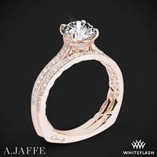 18k Rose Gold A. Jaffe MES771Q Art Deco Diamond Wedding Set | Whiteflash
