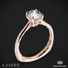 18k Rose Gold A. Jaffe MES837Q Solitaire Engagement Ring | Whiteflash