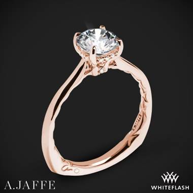 18k Rose Gold A. Jaffe MES837Q Solitaire Engagement Ring
