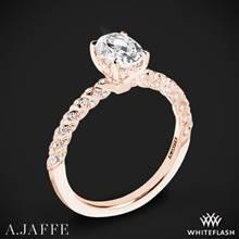 18k Rose Gold A. Jaffe MES867 Seasons of Love Diamond Engagement Ring | Whiteflash