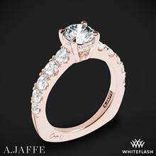 18k Rose Gold A. Jaffe MES870 Metropolitan Diamond Engagement Ring | Whiteflash