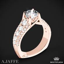 18k Rose Gold A. Jaffe MES898 Diamond Engagement Ring | Whiteflash