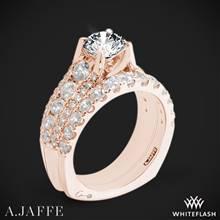 18k Rose Gold A. Jaffe MES898 Diamond Wedding Set | Whiteflash