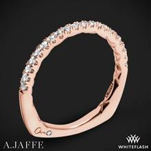 18k Rose Gold A. Jaffe MRS742QB Classics Diamond Wedding Ring | Whiteflash