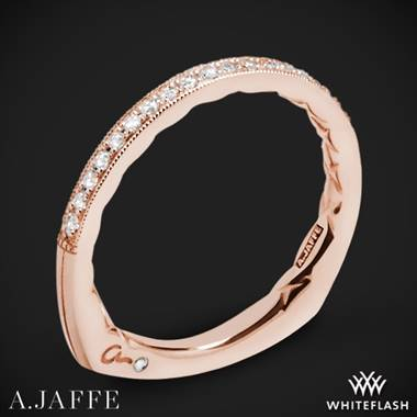 18k Rose Gold A. Jaffe MRS753Q Seasons of Love Diamond Wedding Ring