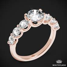 18k Rose Gold Annette's U Prong Diamond Engagement Ring | Whiteflash