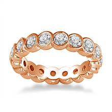 18K Rose Gold Bezel Set Diamond Eternity Ring (1.70 - 2.00 cttw.) | B2C Jewels