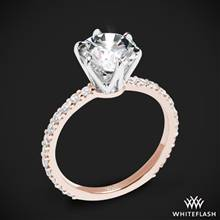 18k Rose Gold Cadence Diamond Engagement Ring with White Gold Head | Whiteflash