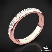 18k Rose Gold Cathedral Pave Diamond Wedding Ring | Whiteflash
