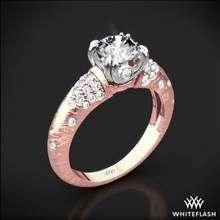 18k Rose Gold Champagne Diamond Engagement Ring with White Gold Head | Whiteflash
