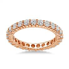 18K Rose Gold Common Prong Diamond Eternity Ring (1.15 - 1.35 cttw.) | B2C Jewels