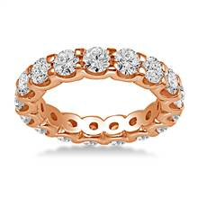 18K Rose Gold Common Prong Diamond Eternity Ring (2.80 - 3.40 cttw.) | B2C Jewels