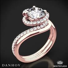 18k Rose Gold Danhov AE100 Abbraccio Diamond Wedding Set | Whiteflash