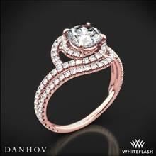 18k Rose Gold Danhov AE162 Abbraccio Diamond Engagement Ring | Whiteflash