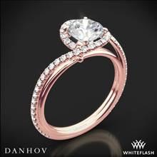 18k Rose Gold Danhov AE165 Abbraccio Diamond Engagement Ring | Whiteflash