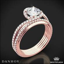 18k Rose Gold Danhov AE165 Abbraccio Diamond Wedding Set | Whiteflash