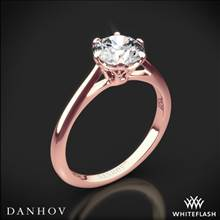 18k Rose Gold Danhov CL117 Classico Solitaire Engagement Ring | Whiteflash