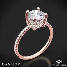 18k Rose Gold Danhov CL120 Classico Single Shank Diamond Engagement Ring | Whiteflash