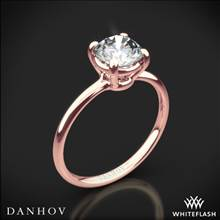 18k Rose Gold Danhov CL130 Classico Solitaire Engagement Ring | Whiteflash
