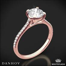 18k Rose Gold Danhov CL138 Classico Single Shank Diamond Engagement Ring | Whiteflash