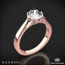 18k Rose Gold Danhov CL140 Classico Solitaire Engagement Ring | Whiteflash