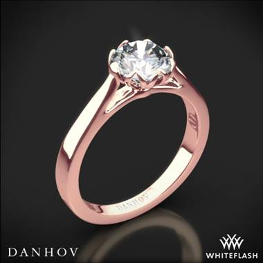 18k Rose Gold Danhov CL140 Classico Solitaire Engagement Ring