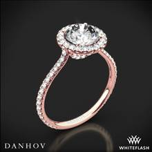 18k Rose Gold Danhov LE112 Per Lei Halo Diamond Engagement Ring | Whiteflash