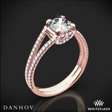 18k Rose Gold Danhov LE116 Per Lei Diamond Engagement Ring | Whiteflash
