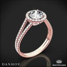 18k Rose Gold Danhov LE117 Per Lei Double Shank Diamond Engagement Ring | Whiteflash