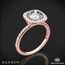 18k Rose Gold Danhov LE125 Per Lei Halo Diamond Engagement Ring | Whiteflash