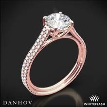 18k Rose Gold Danhov LE133 Per Lei Diamond Engagement Ring | Whiteflash