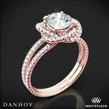 18k Rose Gold Danhov SE100 Solo Filo Double Shank Diamond Engagement Ring | Whiteflash