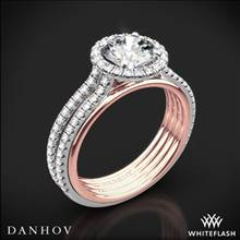 18k Rose Gold Danhov UE103 Unito Diamond Two-Tone Engagement Ring | Whiteflash