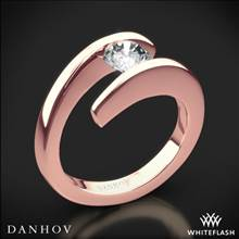 18k Rose Gold Danhov V119 Voltaggio Tension-Set Solitaire Engagement Ring | Whiteflash