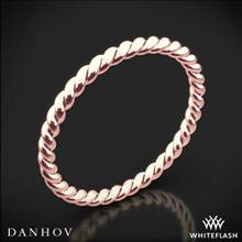 18k Rose Gold Danhov ZB100 Eleganza Braided Wedding Ring | Whiteflash