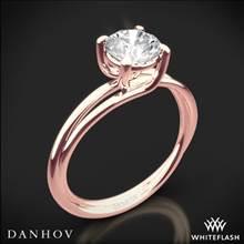 18k Rose Gold Danhov ZE100 Eleganza Braided Solitaire Engagement Ring | Whiteflash