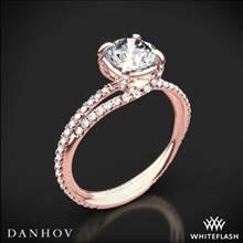 18k Rose Gold Danhov ZE101 Eleganza Diamond Engagement Ring | Whiteflash