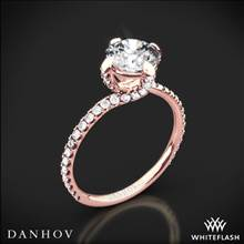 18k Rose Gold Danhov ZE138 Eleganza Diamond Engagement Ring | Whiteflash