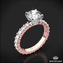 18k Rose Gold Diamonds for an Eternity Diamond Engagement Ring with Platinum Head | Whiteflash