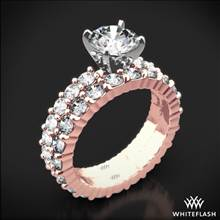 18k Rose Gold Diamonds for an Eternity Diamond Wedding Set   Whiteflash
