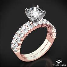 18k Rose Gold Diamonds for an Eternity Half Diamond Wedding Set | Whiteflash