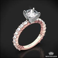 18k Rose Gold Diamonds for an Eternity Three Quarter Diamond Engagement Ring with Platinum Head | Whiteflash