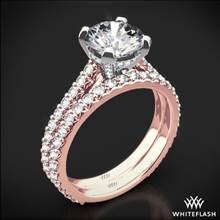 18k Rose Gold Elena Diamond Wedding Set | Whiteflash