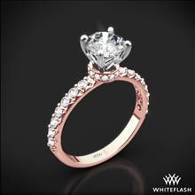 18k Rose Gold Eternity Wrap Diamond Engagement Ring with White Gold Head | Whiteflash