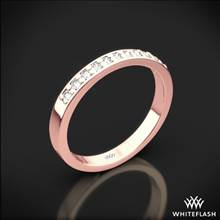 18k Rose Gold Flush-Fit Diamond Wedding Ring | Whiteflash