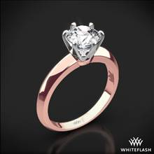 18k Rose Gold Knife-Edge Solitaire Engagement Ring with White Gold Head | Whiteflash
