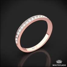 18k Rose Gold Legato Sleek Line Pave Diamond Wedding Ring | Whiteflash