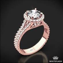 18k Rose Gold Park Avenue Diamond Engagement Ring | Whiteflash