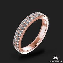 18k Rose Gold Park Avenue Diamond Wedding Ring | Whiteflash